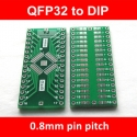 PCB QFP32 to DIP32 Adapter 0.8mm
